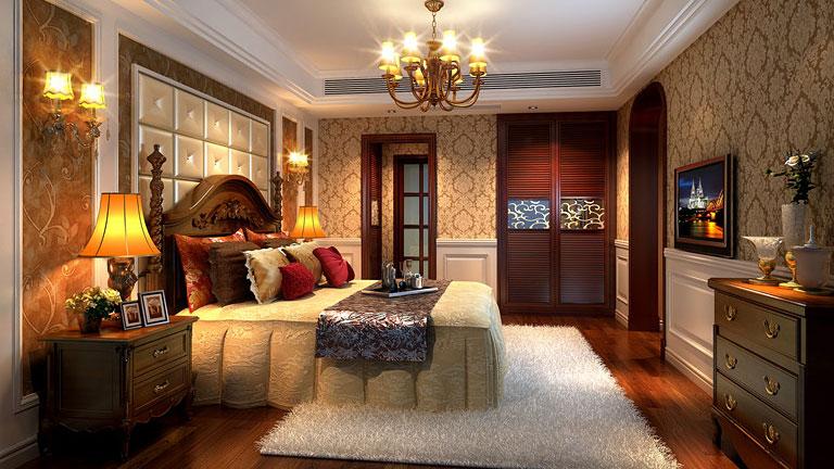 家庭装修 室内装修 高度国际 尚层 东易 三居 欧式 简约 混搭 卧室图片来自高度国际装饰王伟在K2百合湾--四居室简欧风格的分享