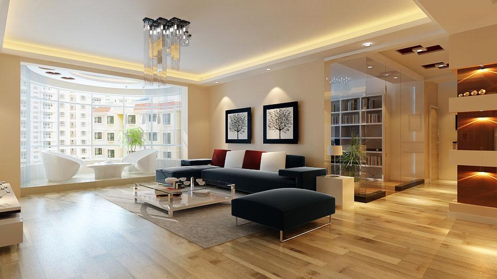 家庭装修 室内装修 高度国际 尚层 东易 三居 田园 简约 混搭 客厅图片来自高度国际装饰王伟在倚山家园小区---现代简约风格的分享