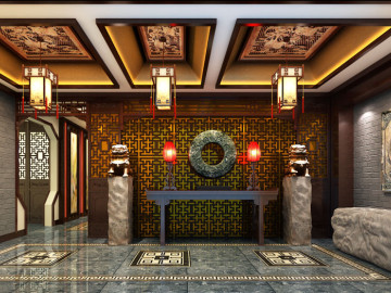 甜水园会所--220㎡新中式风格