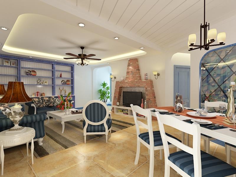 地中海风格 青岛装修 室内设计 装修设计 紫御装饰 客厅图片来自青岛紫御装饰在二手房改造的分享