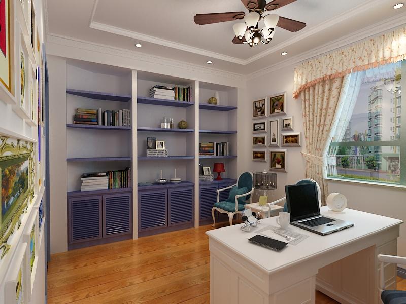 地中海风格 青岛装修 室内设计 装修设计 紫御装饰 书房图片来自青岛紫御装饰在二手房改造的分享