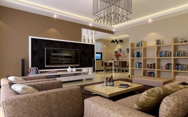 简洁而大方,实用而美观是该设计方案的主旨,整个客餐厅的设计以简洁入手,并不做过多的装饰,温馨而又时尚,同时客厅还兼具了学习空间的功能。