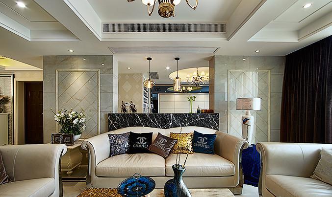 客厅图片来自佰辰生活装饰在260方轻奢风小窝的分享