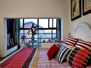 80后 小资 收纳 地中海 小清新 卧室图片来自成都生活家装饰在保利城165平米地中海风格的分享