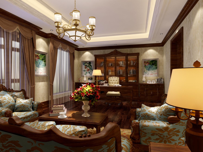 书房图片来自用户1721279202在杭州昆仑府美式乡村三代同堂的分享