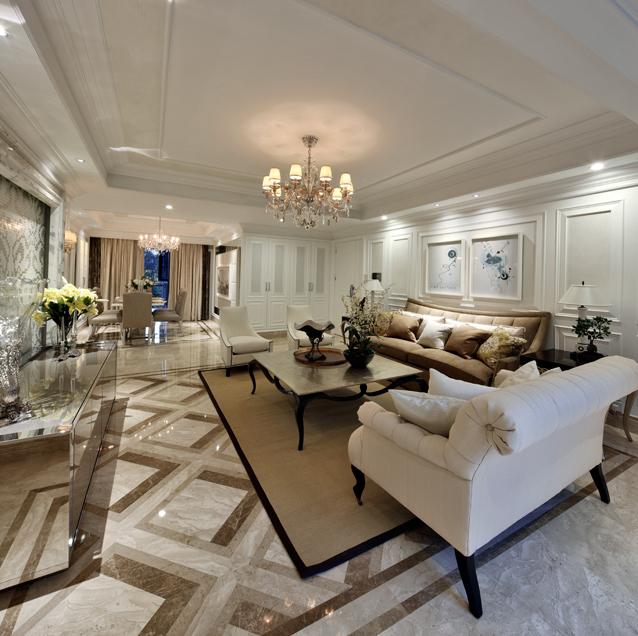 简约 欧式 别墅 客厅图片来自郑鸿在唯爱简白—中信红树湾的分享