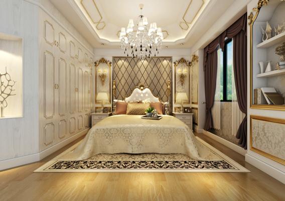 卧室图片来自湖南点石家装在橘郡-礼顿山的分享