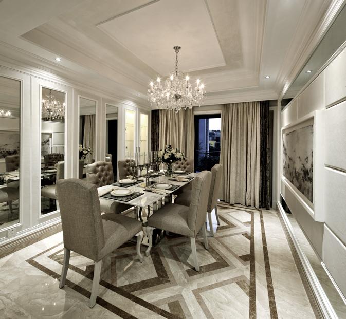 简约 欧式 别墅 餐厅图片来自郑鸿在唯爱简白—中信红树湾的分享
