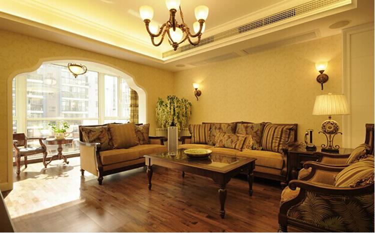 实创装修 绿城百合 160平 客厅图片来自大业美家装饰在绿城百合160平乡村田园装修的分享