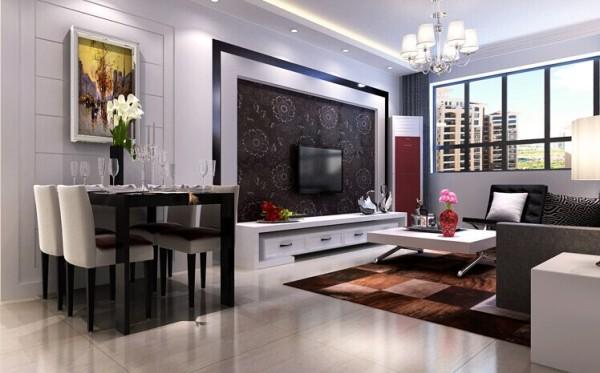 以简洁明快的设计风格为主调,简洁和实用是现代简约风格的基本特点,一字型的吊顶体现了空间的层次感同时也不影响层高。