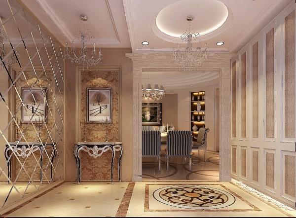室内以沉稳的暖灰调为主,整体轮廓的线条简洁不失精致的细节处理,用虚实的结合的手法来表现空间的层次变化及奢华气氛。客厅搭配简洁舒适的家具和精致美丽的饰品,让人陶醉在高雅迷人的室内环境中。
