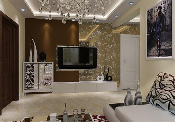 此户型为小两居,整体风格现代混搭。业主要求:喜欢米色系,现代简约温馨!