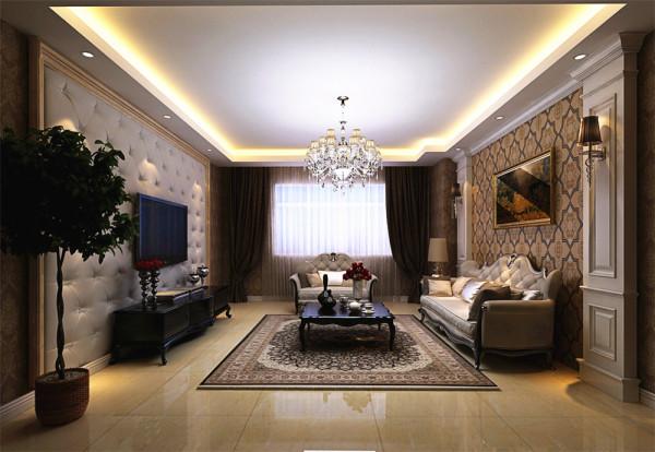 沙发抱枕的布艺质感选择十分重要,通常选用丝质的材料。地板同样选择了800*800的大理石地砖进行铺设,这样会显得比较大气。
