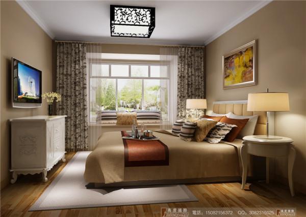 中海九号公馆卧室细节效果图-成都高度国际装饰