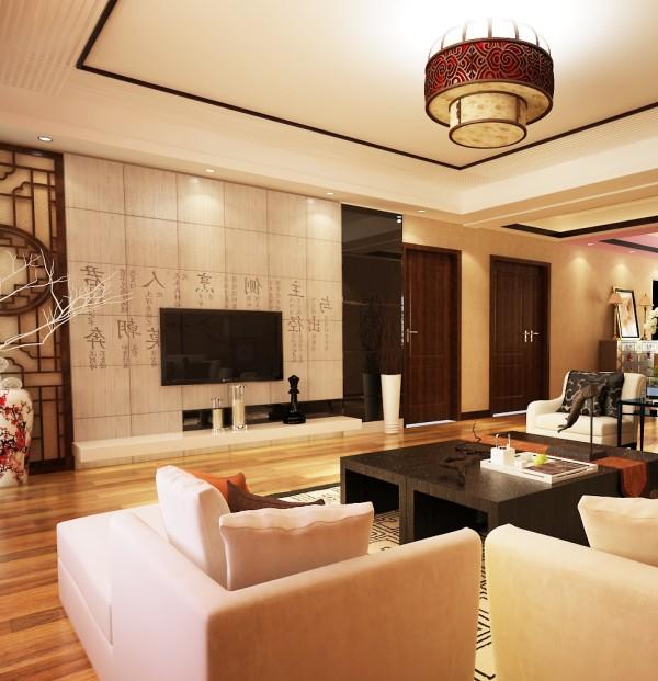 石家庄业之峰装饰-鑫界王府168平米新中式风格装修效果图