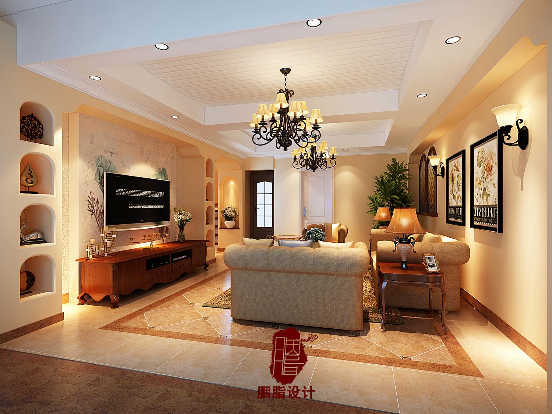 胭脂设计 甘肃省兰州 美式风格 客厅图片来自设计师胭脂在甘肃省兰州200平复式 美式风格的分享