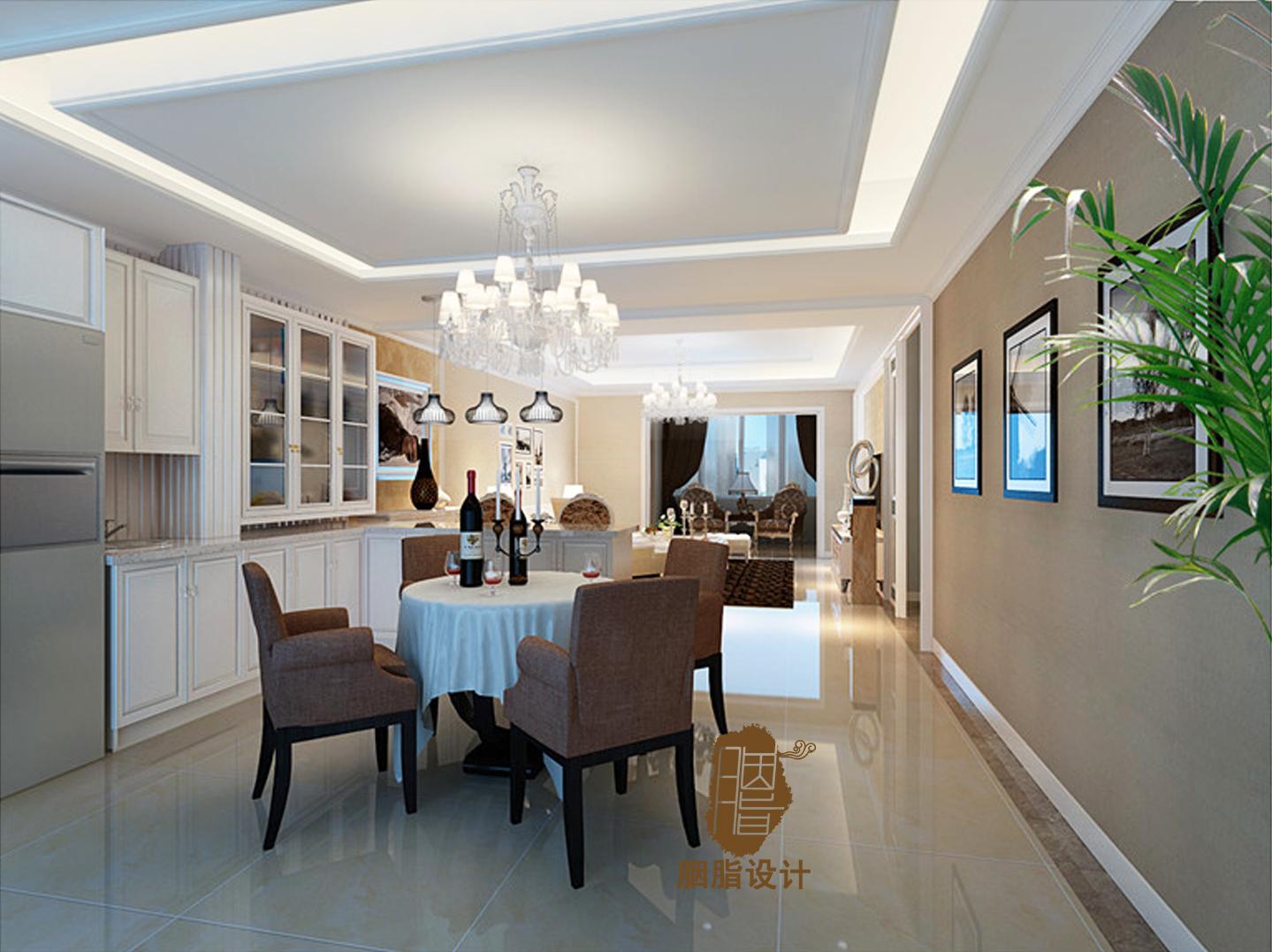 胭脂设计 重庆案例 龙湖原著 别墅 欧式 餐厅图片来自设计师胭脂在重庆龙湖原著别墅的分享