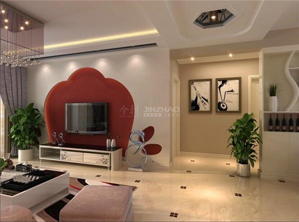 【今朝装饰www.xajzzs.cn】:大华公园世家107平二居室-简约风格(本小区装修设计60套)