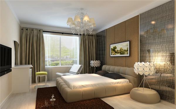 柔软的主卧背景墙,米色的墙面,简单的家具,虽然没有复杂的布局,但是舒适的家居生活从卧室开始。咖色的软包,白色地板和米色墙面,同一色系的调子,结合不同材质打造家居舒适生活。
