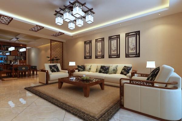 客厅效果图客厅墙面和顶面的处理手法极其简单,没有多余的装饰背景和软装饰。似乎每件陈设物品都必不可少,但也缺一不可。沙发和窗帘配色协调,凸显出主人沉稳低调的生活态度。