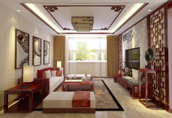 空间装饰采用简洁、硬朗的直线条,与中式风格的家具搭配使用。直线装饰在空间中的使用,不仅反映出业主追求简单生活的居住要求,更迎和了中式家居追求内敛、质朴的设计风格,使中式风格更加实用、更富现代感