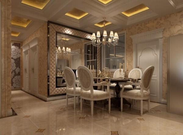 简欧风格的装修设计,时尚的欧式吊灯,大气明亮。