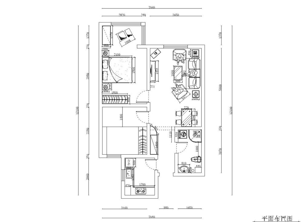 二居 小资 80后 旧房改造 白领 收纳 简约 户型图图片来自阳光力天装饰梦想家更爱家在众泰新苑2室2厅97㎡现代风的分享