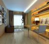 客厅运用了蕴含流行元素的镜面与软包,让现代感体现得更有力量。然后跟上软装的搭配,更让这份现代感显得更有灵动感,更让这空间充满活力。