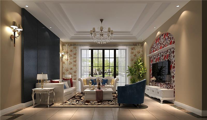 高度国际 客厅图片来自成都高端别墅装修瑞瑞在280平米简约美式-成都高度国际的分享