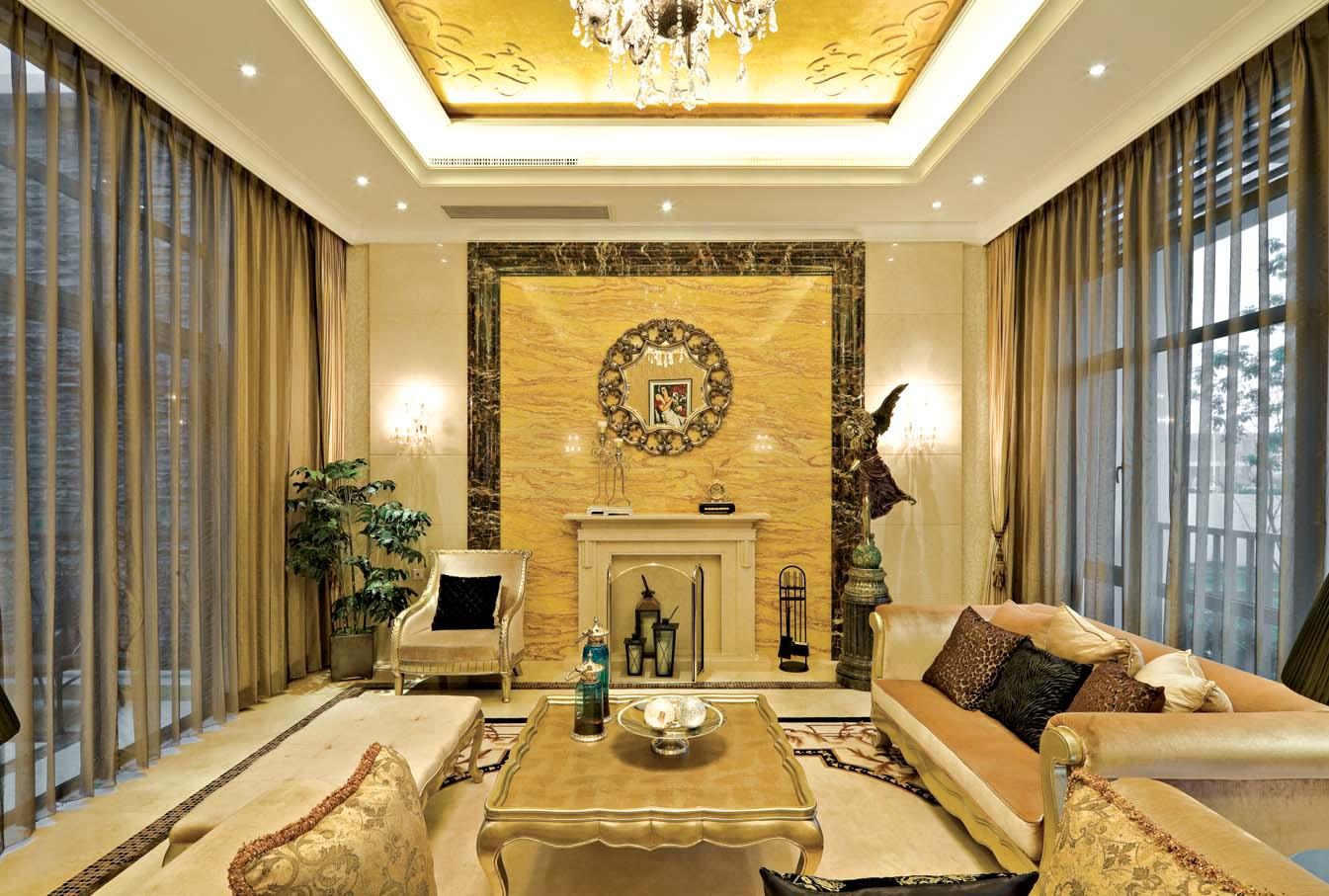 简约 新古典 别墅 小资 客厅图片来自北京装修设计o在新古典风格远洋遨北二期的分享