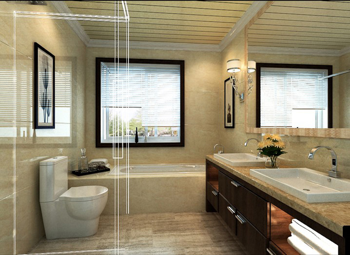 简约 五居室 260平米 小资 实创装饰 卫生间图片来自传承正能量在43万打造260平简欧五居室的分享