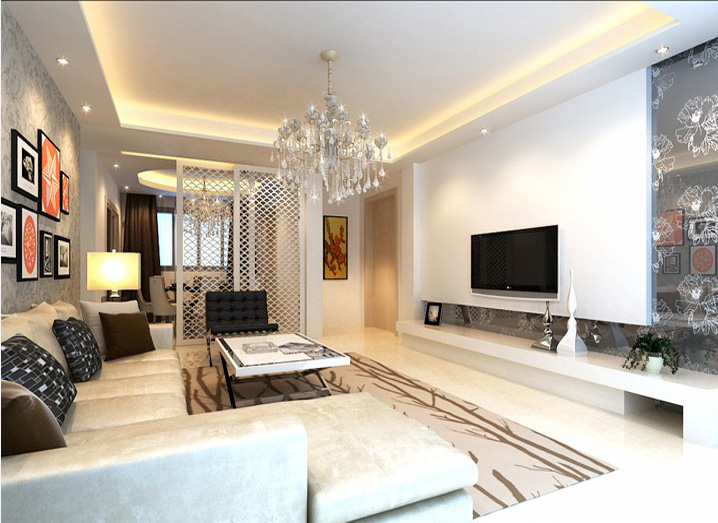 简约 五居室 260平米 小资 实创装饰 客厅图片来自传承正能量在43万打造260平简欧五居室的分享