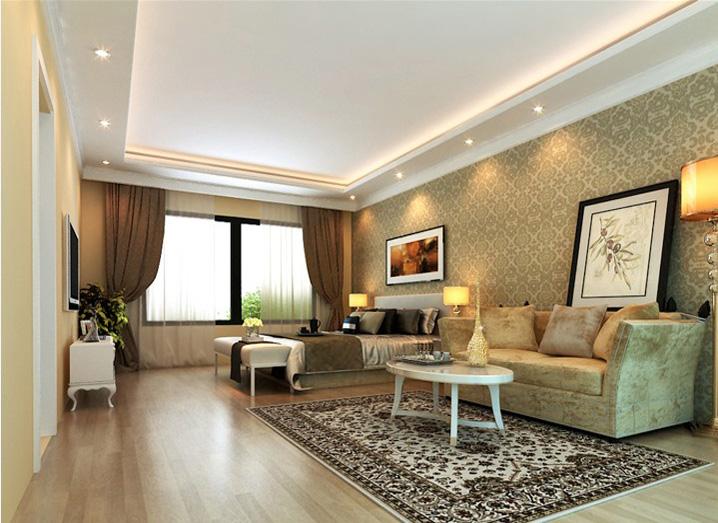 简约 五居室 260平米 小资 实创装饰 卧室图片来自传承正能量在43万打造260平简欧五居室的分享