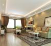 设计理念:通过简单的手法处理和简约大气的家具组合来透露温馨华丽的居住空间。 亮点:清新典雅的壁画能在紧张的工作生活之余充分的放松自己的身心。