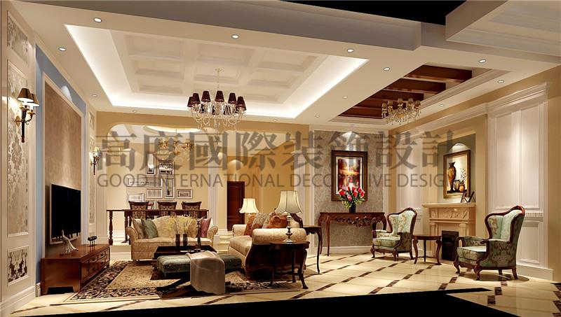 成都高度 别墅装修 别墅装饰 住宅装饰 蔚蓝卡地亚 别墅 300㎡ 混搭风格 客厅图片来自北京高度国际装饰设计成都分公司在北欧知识城-300㎡-混搭风格的分享