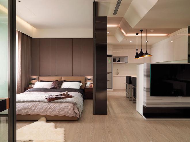 简约 白领 80后 卧室图片来自天津都市新居装饰有限公司在恒盛SOHO二号楼的分享