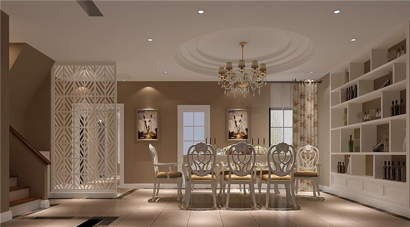 高度国际 餐厅图片来自成都高端别墅装修瑞瑞在280平米简约美式-成都高度国际的分享