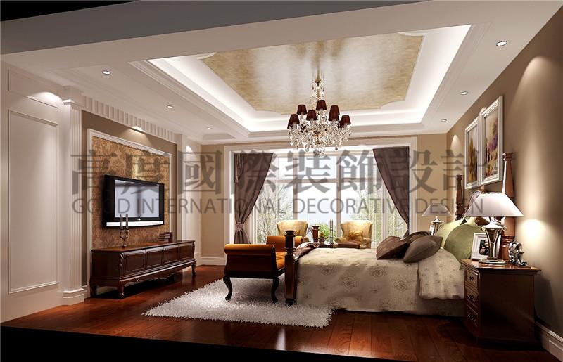 成都高度 别墅装修 别墅装饰 住宅装饰 蔚蓝卡地亚 别墅 300㎡ 混搭风格 卧室图片来自北京高度国际装饰设计成都分公司在北欧知识城-300㎡-混搭风格的分享