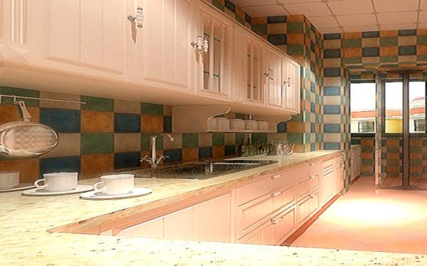 设计理念:橱柜整体以象牙白为主,搭上戈兰迪石英石台面,燥热的厨房也会变得宁静。厨房无疑是夫妻俩增进感情,产生默契,创造浪漫的地方,那怎又能不给空间来些色彩