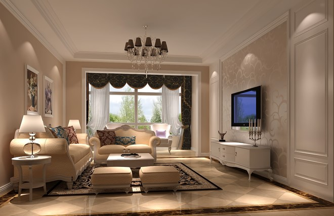简约 欧式 白领 客厅图片来自亚光亚装饰神设手小美在富力新城的分享