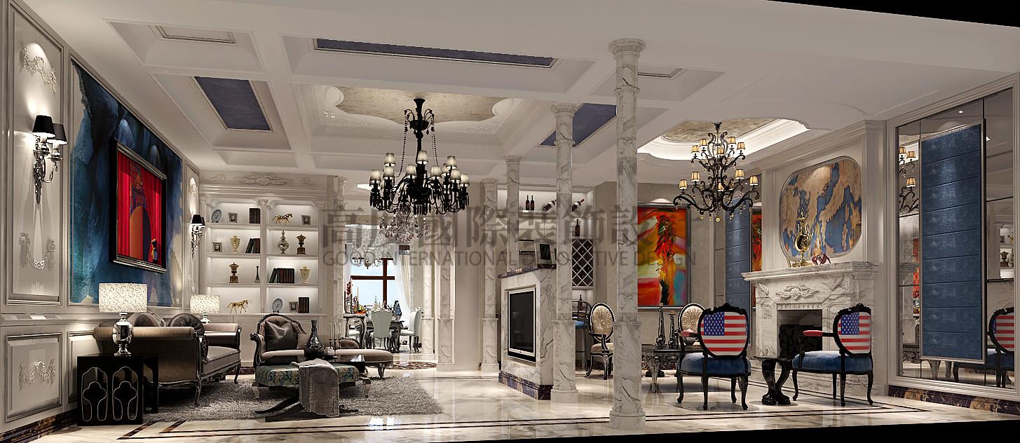成都 高度国际 泰悦湾 混搭 公寓 客厅图片来自心心念念977在泰悦湾196㎡---现代与法式混搭--的分享