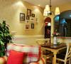 龙城一号田园风格设计餐厅
