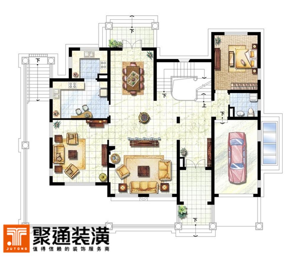 别墅 别墅装修 别墅设计 聚通装潢 腾龙设计 户型图图片来自jtong0002在达安圣芭芭别墅装修新欧式风格的分享