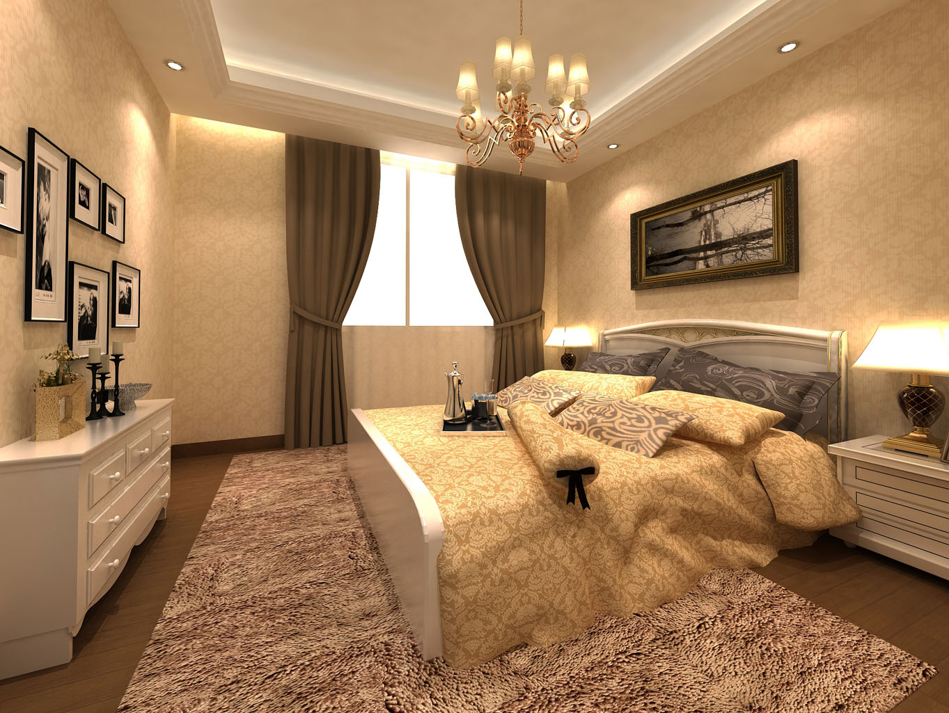 三居 欧式 可逸江畔 145平米 新房装修 卧室图片来自传承正能量在31.9万的简约时尚的温馨家庭的分享
