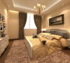次卧的设计也体现了简约而时尚的特点,整个设计理念贯穿左右,用相近色系来营造一种和谐的氛围,温暖而舒适。