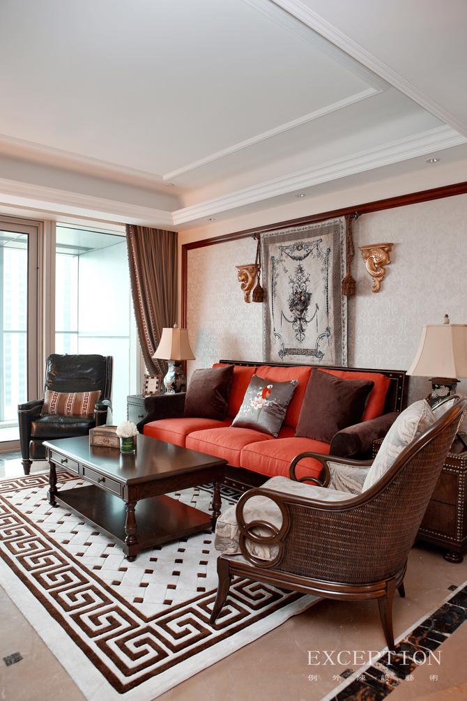 室内设计 例外软装 例外设计 室内设计师 软装设计 客厅图片来自例外软装设计在古韵留香--舟山百合公寓的分享