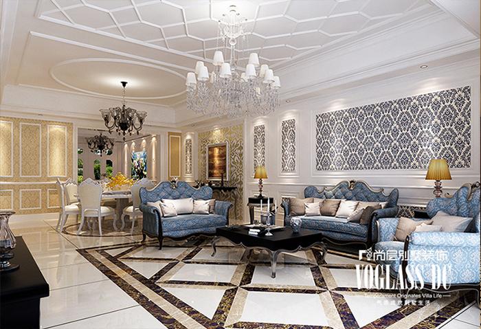 别墅 别墅装修 法式 别墅设计 80后 小资 客厅图片来自武汉尚层装饰小周在金地格林的分享