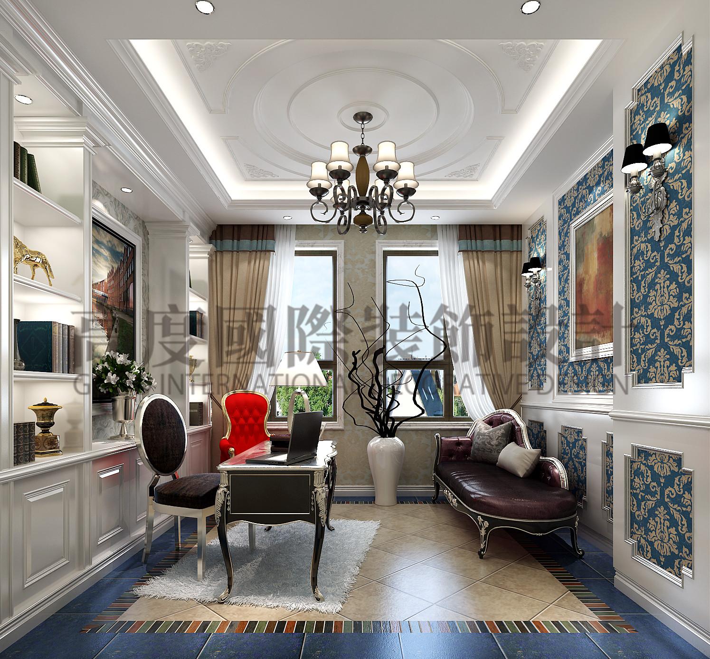 成都 高度国际 泰悦湾 混搭 公寓 书房图片来自心心念念977在泰悦湾196㎡---现代与法式混搭--的分享