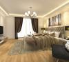 卧室是在浅色系的基础下运用了很多软的家具,仍然体现了一种温暖舒适的气氛,满足人们的心里需求。家具布置简洁但不失创意。