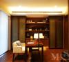 中海国际社区新中式风格设计书房